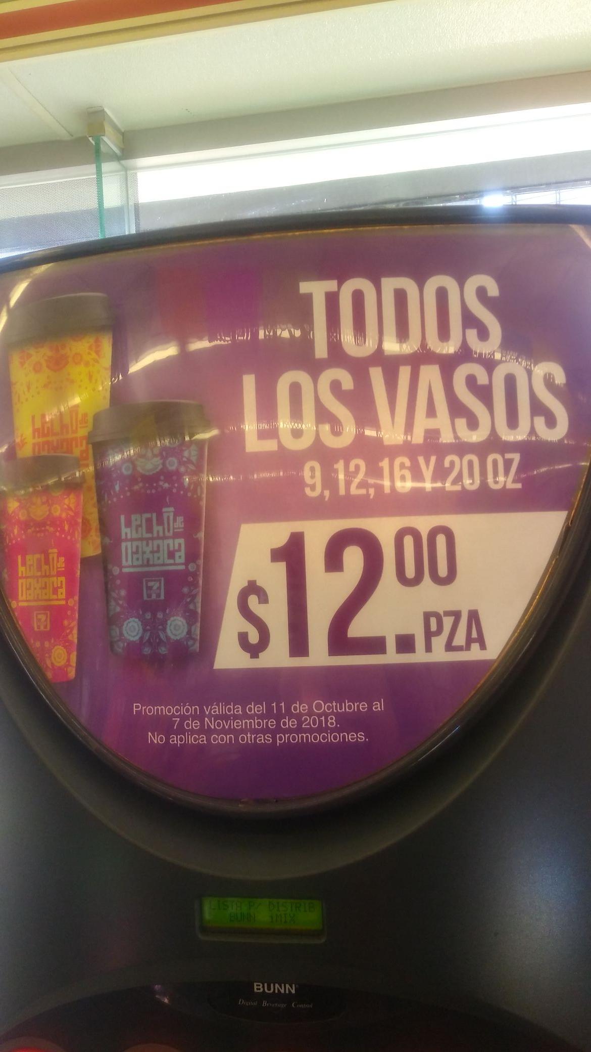 7 Eleven Toluca:  Todos los vasos 12 pesos