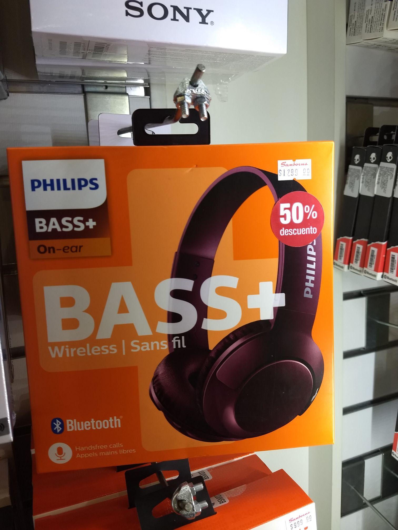 Sanborns: Audífonos Bluetooth Philips 50%  y más