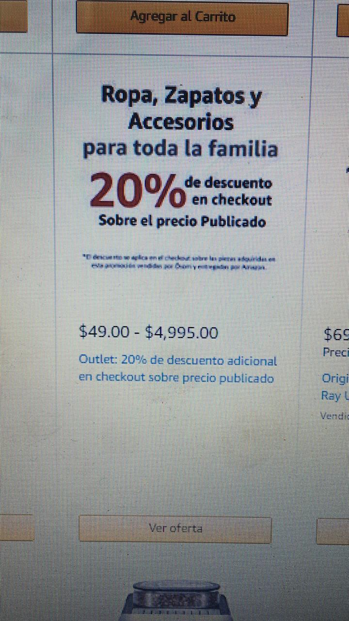 Amazon: ¡Descuento duplicado por error! (productos seleccionados fashion)
