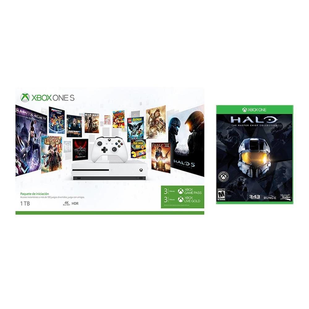 Walmart: Xbox One S 1TB + 3 Meses de Game Pass, 2 tarjetas de 3 Meses de LIVE y Halo Master Chief