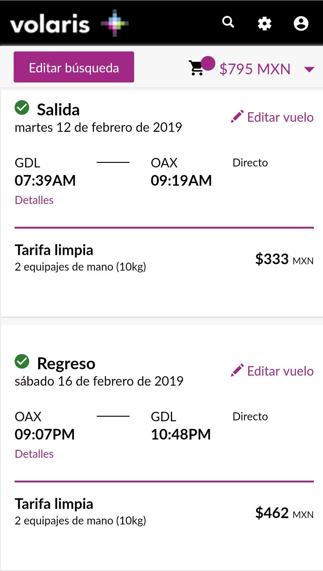 Volaris: Guadalajara o Ciudad de Mexico a Oaxaca