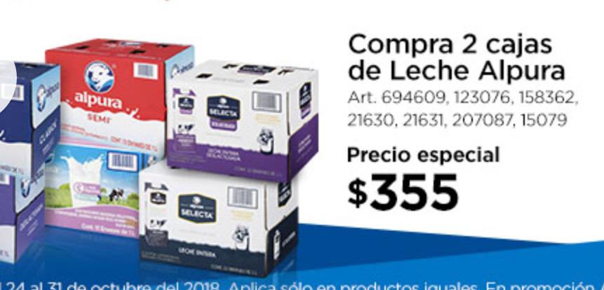 Sam's Club: 2 cajas de leche alpura por $355