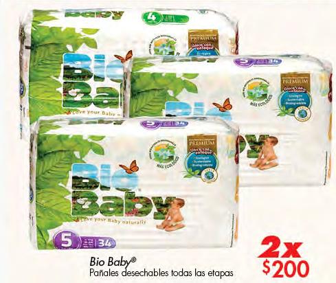 Superama Pañales BioBaby E3 a E6 al 2 x $200