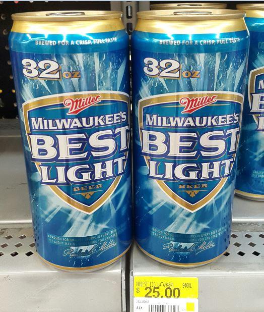 Bodega Aurrerá: Cerveza Miller Light 1Lt. Mega Laton