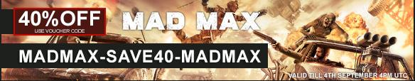 Gmg: Mad max para steam con el 40% de descuento ó 402 en otra web