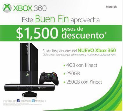 Ofertas del Buen Fin 2013 en Xbox 360 de Microsoft