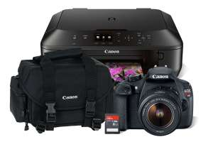 Best Buy Cámara Canon T5 + Impresora + Sd8Gb + Maleta $7,999