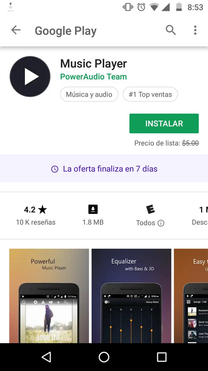 Google Play: Music Player gratis