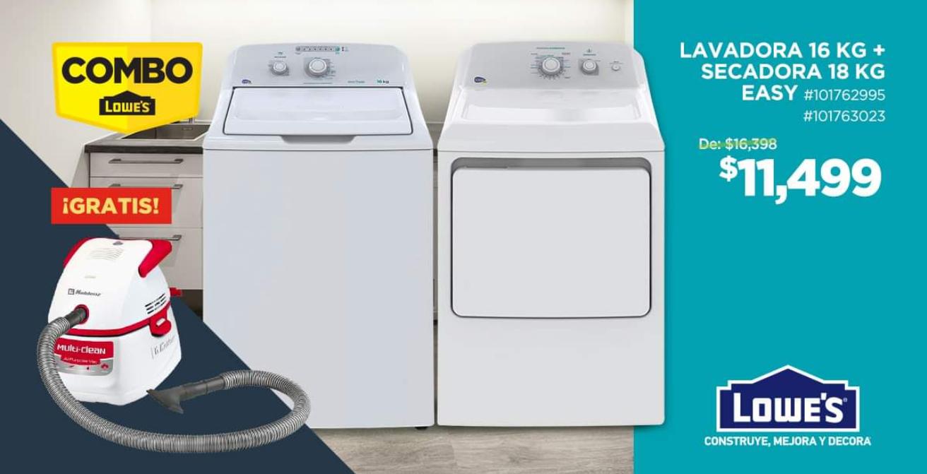 Lowes: Combo lavadora y secadora con aspiradora gratis