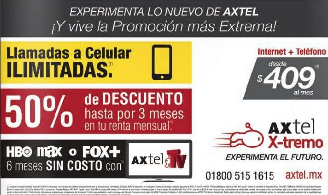 Axtel: 6 meses gratis de paquetes HBO Max o Fox+ para nuevos clientes
