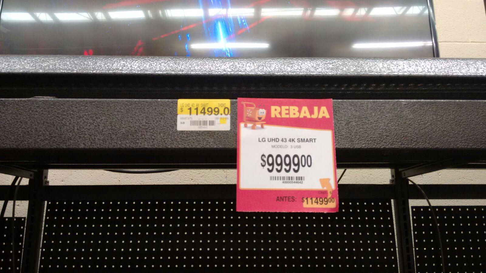 "Walmart: LG 43"" 4k Smart TV $9,999"