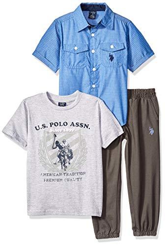 Amazon: U.S. Polo Assn - Juego de Playera Pantalones Deportivos Niño - Talla 2 años - Color: Jogger Pant Multi Plaid