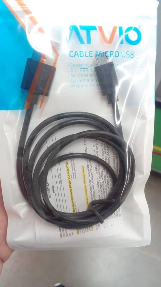Bodega Aurrerá: Cable micro USB Atvio 5.01