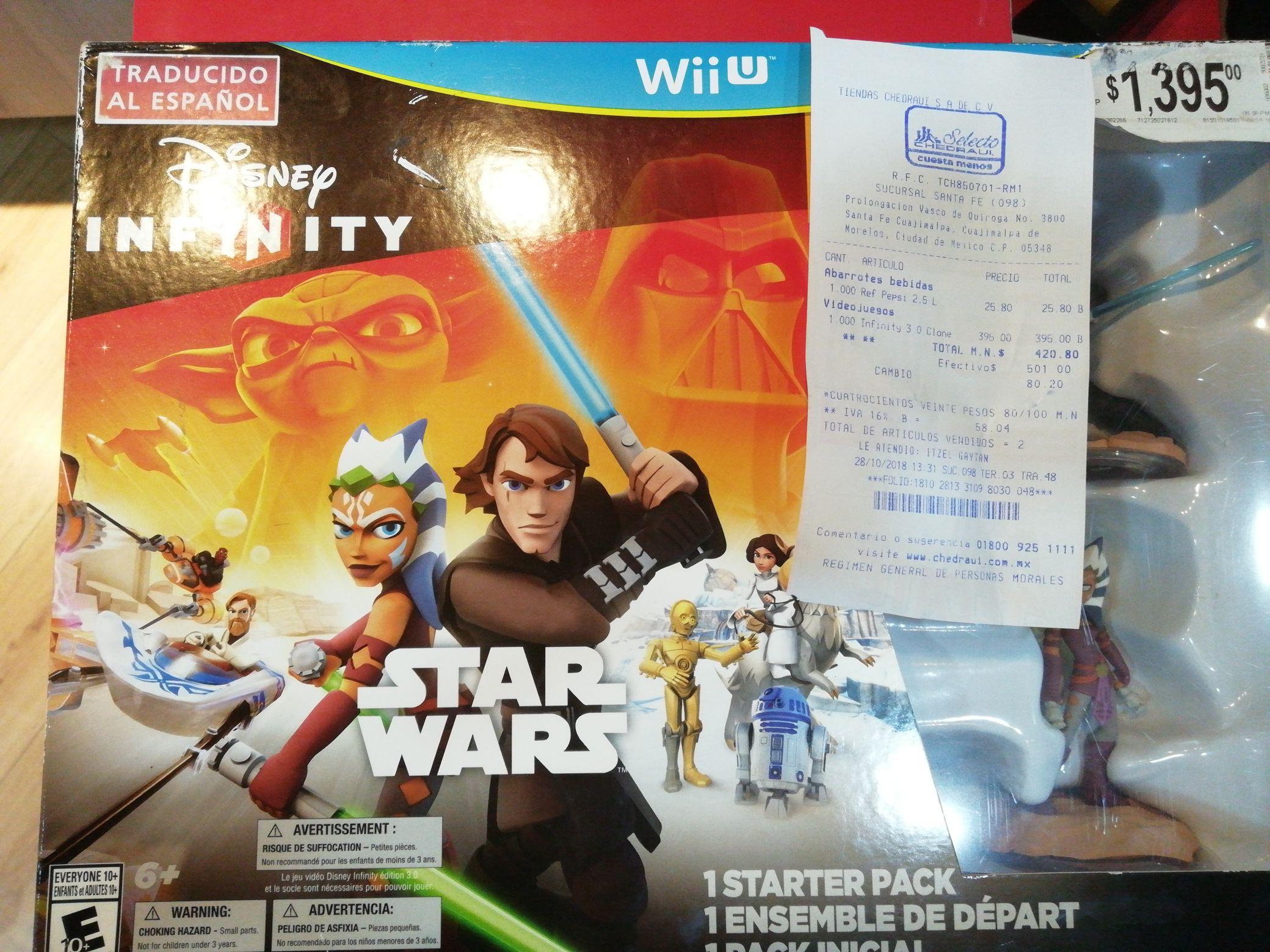 Chedraui: Disney Infinity Star Wars para Wii U