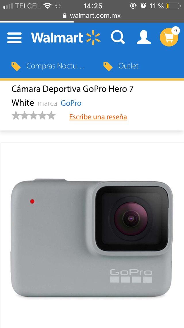 Walmart: Cámara Deportiva GoPro Hero 7 White