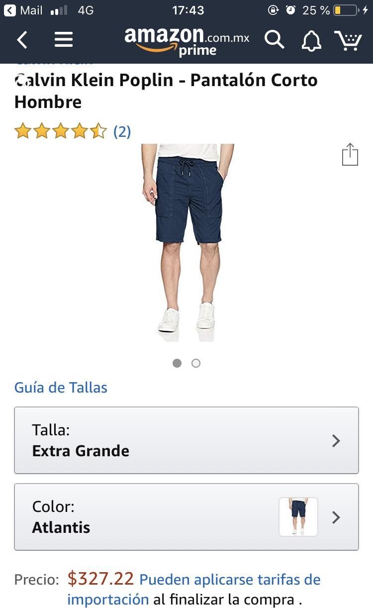 Amazon: Bermuda ck, talla X, XL