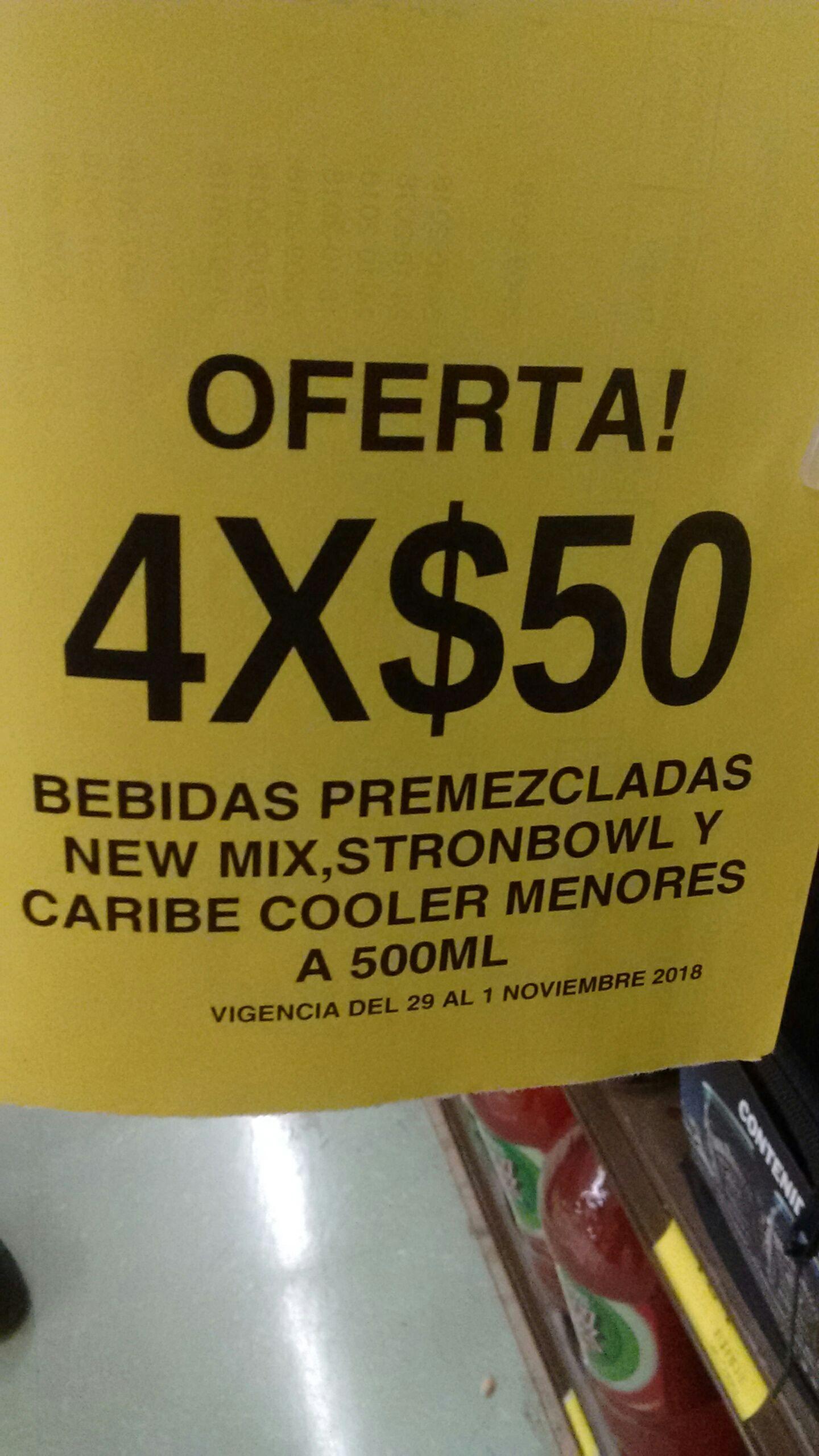 Soriana Híper: 4 bebidas premezcladas x $50