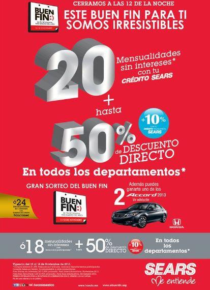 Ofertas del Buen Fin 2013 en Sears (actualizado)