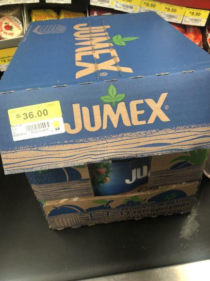 Bodega Aurrera: Paquete de 3 Jumex de 1L ($12 c/u)