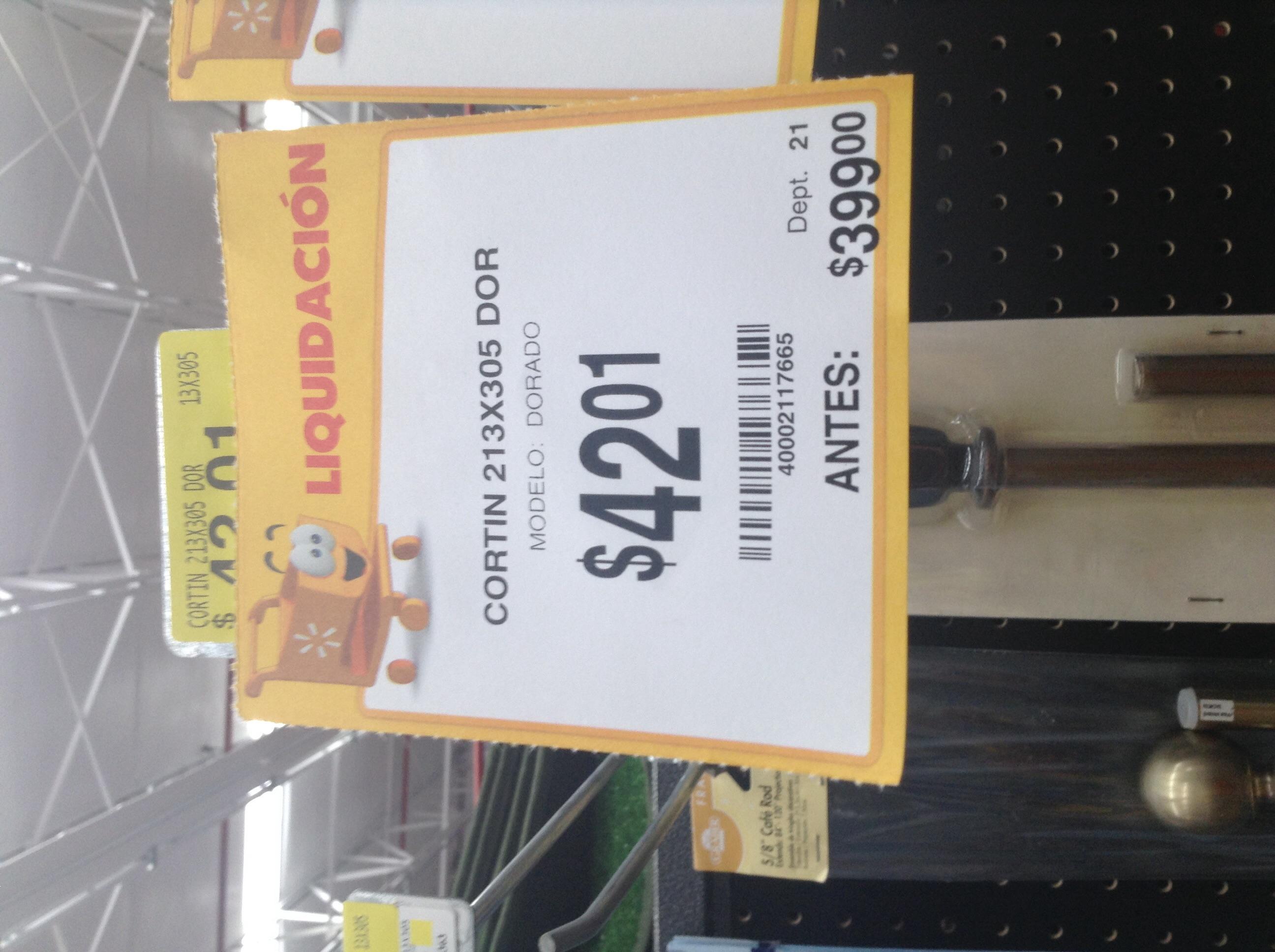 Walmart: Cortinero rebajado de $399.00 a $42.01