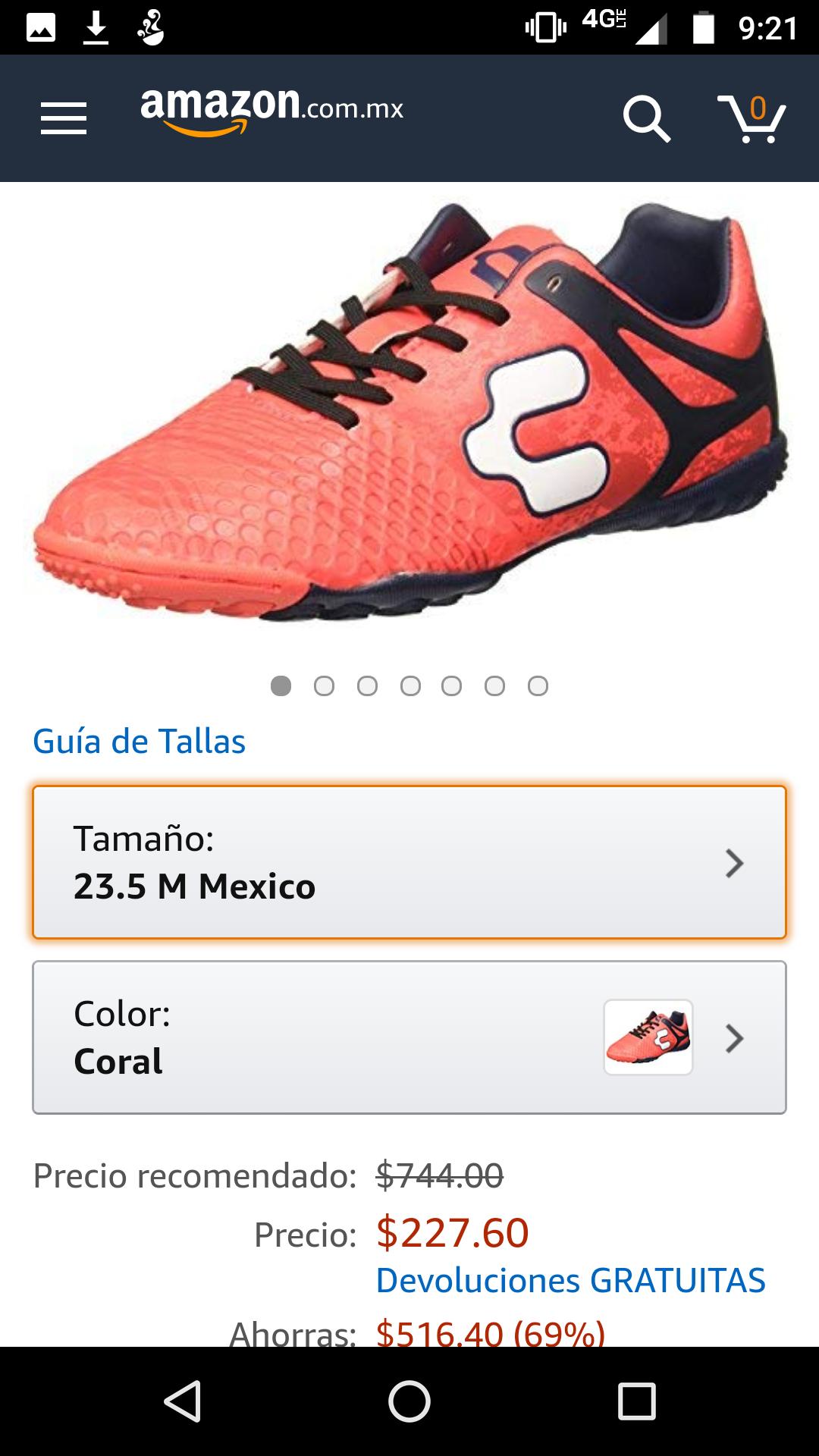 Amazon: tenis de futbol Charly para pies pequeños
