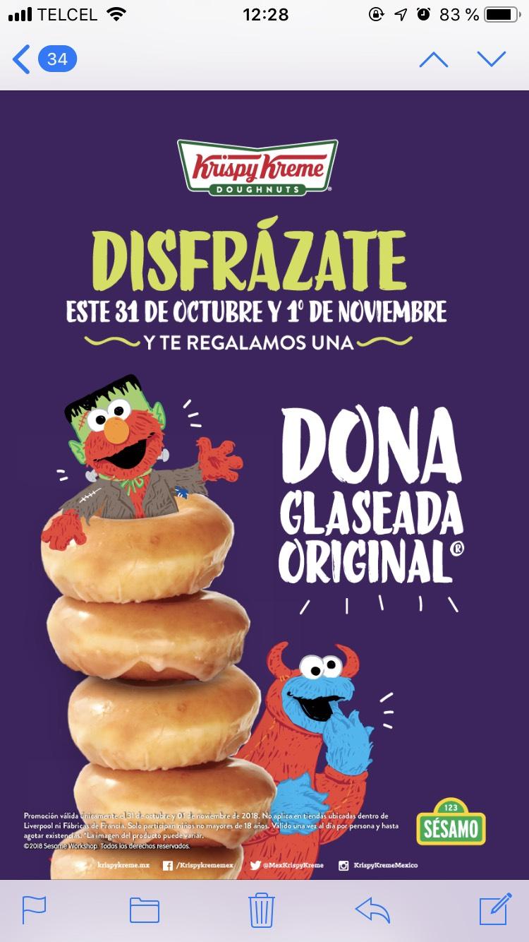 Krispy Kreme: Disfrázate y te regalan una dona