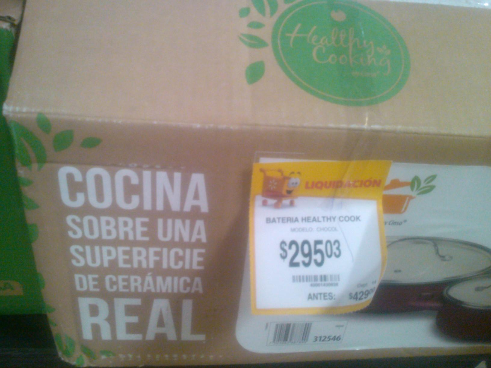 Walmart: Bateria Healthy Cook (Cinsa) y varias liquidaciones