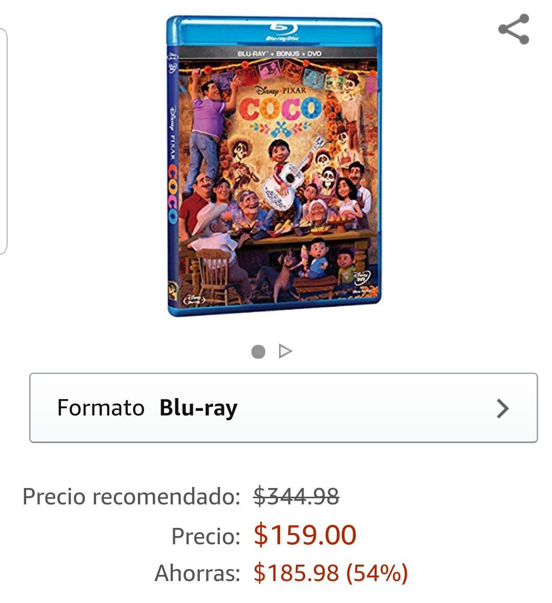 Amazon: Coco (Blu-Ray + DVD)