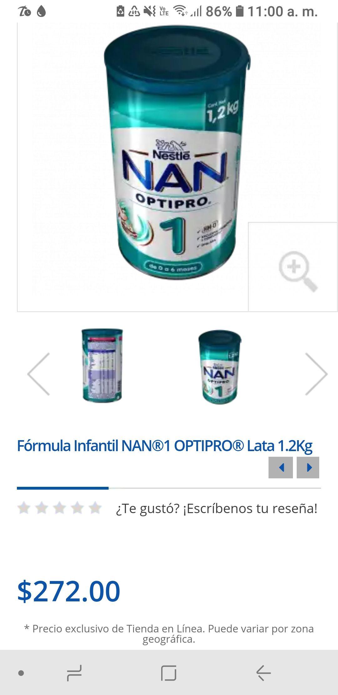 Farmacias Del Ahorro: Formula NAN 1 1.2kg