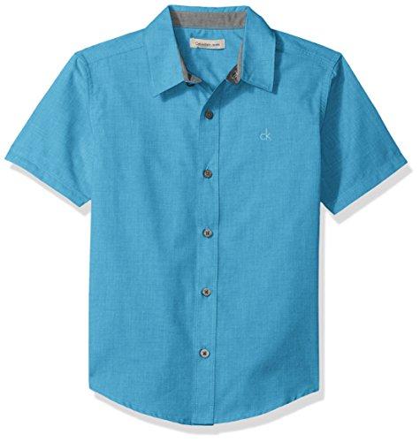 Amazon: Calvin Klein - Camisa de Botones para niños Grandes TALLA 4