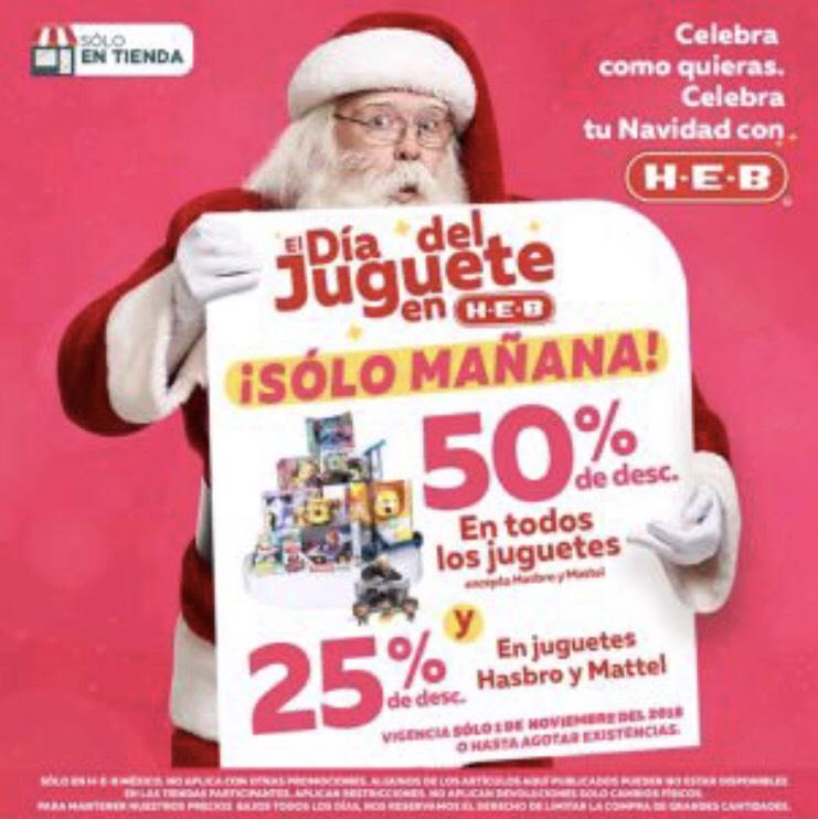 Pre Buen Fin 2018 HEB: Hoy 50% de descuento en Juguetes, Hasbro-Mattel 25%