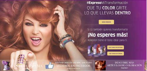 Boletos para concierto de Paulina Rubio comprando productos Koleston o por teñirse de rojo el cabello gratis