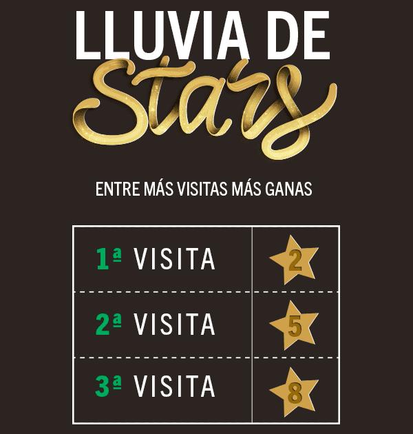 Starbucks: Acumula estrellas por visitas