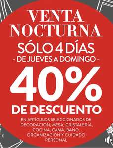 The Home Store: Venta Nocturna hasta 40%