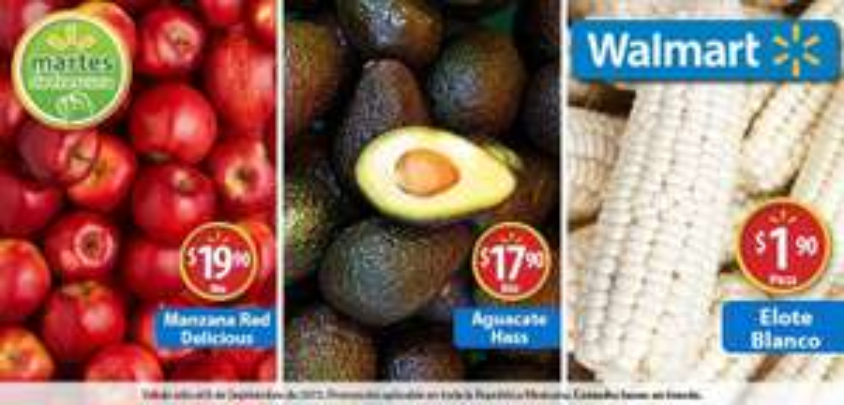 Martes de frescura en Walmart septiembre 8: Aguacate Hass a $17.90 el kilo y más