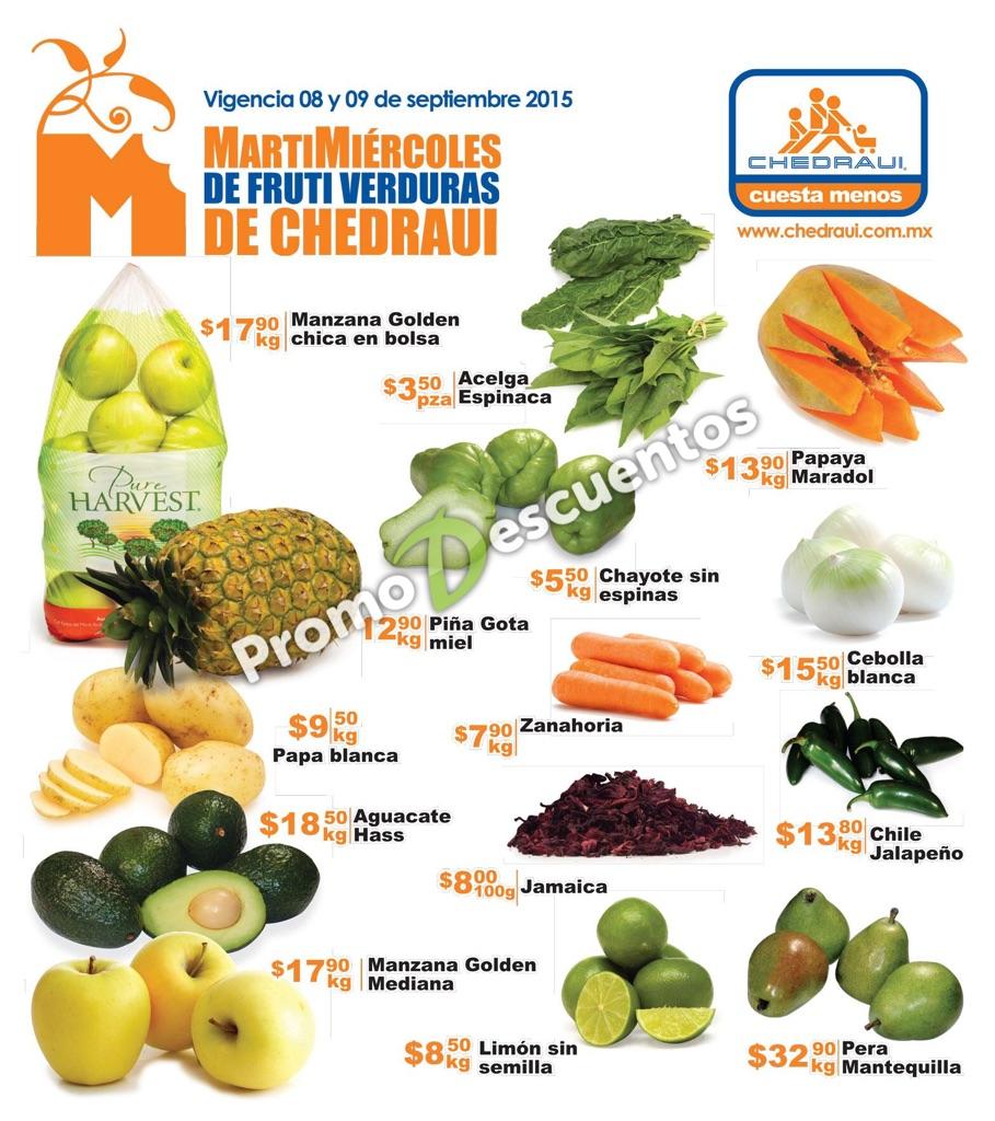Martimiércoles en Chedraui 8 y 9 de septiembre: ofertas en frutas, verduras, carnes y más