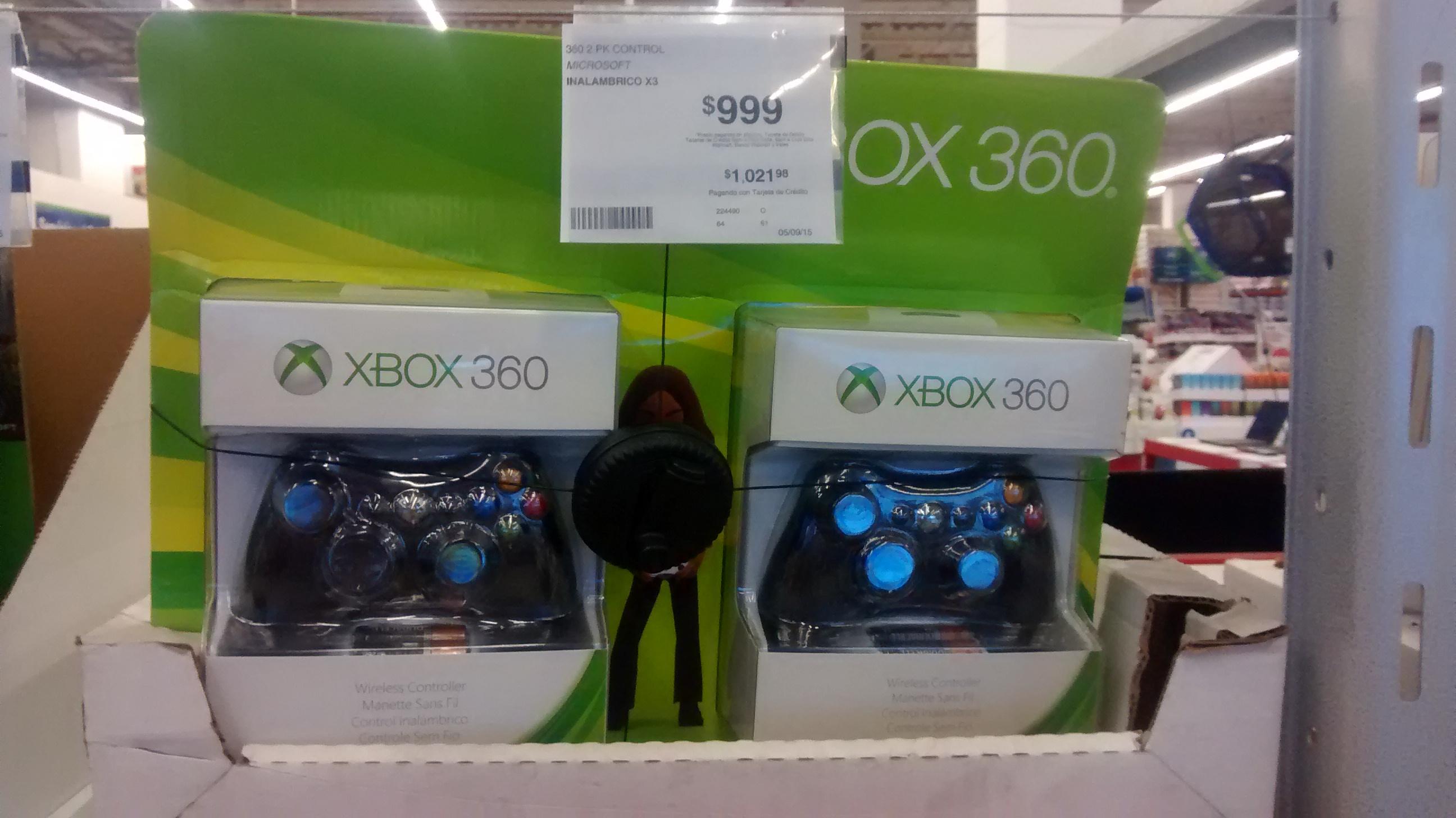 Sam's Club: Pack 2 controles Xbox 360 a $999