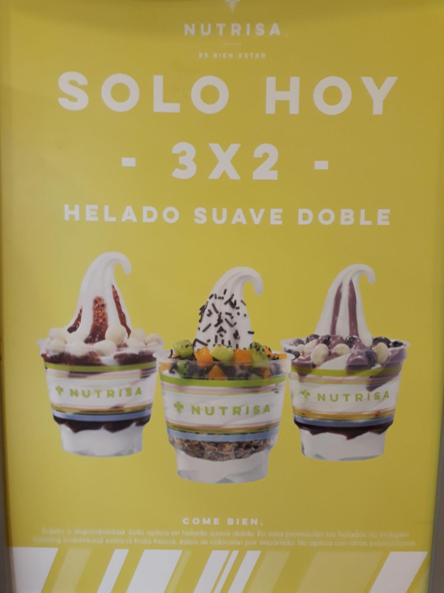 Nutrisa: 3x2 en Helado Suave Doble y Paletas $20.00