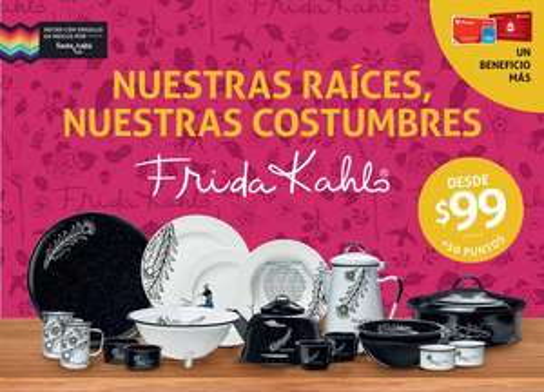 Soriana: Nuevo programa de lealtad, Colección Frida Kalho, Vajilla y artículos de Cocina desde $99