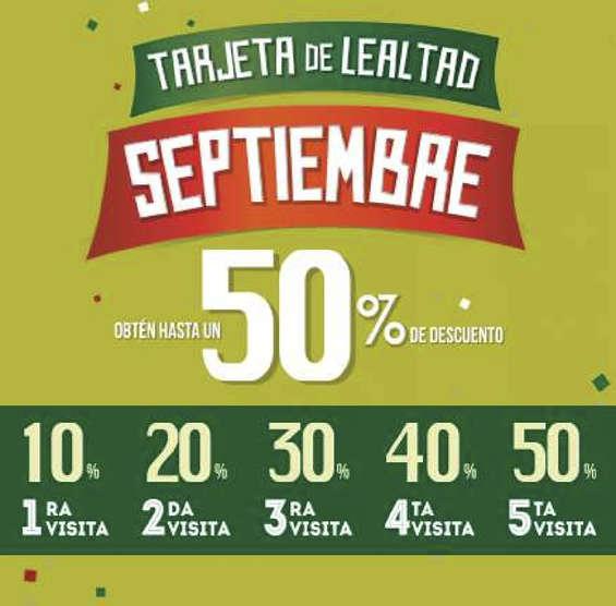 Vips: Tarjeta de lealtad hasta 50% descto en tu cuenta (Septiembre) Acumula visitas