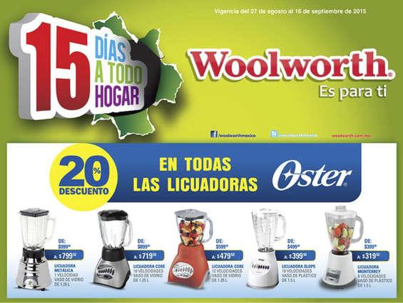 Woolworth: 20% de descuento en licuadoras Oster
