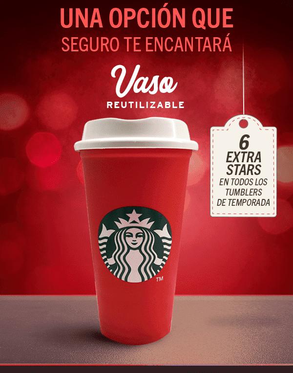 Starbucks: Obtén stars adicionales al daypart en la compra de productos de temporada Navideña