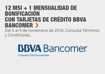 Pre Buen Fin 2018 Home Depot: 12 MSI + 1 Mes de bonificación al comprar en línea con tarjeta de crédito BBVA Bancomer