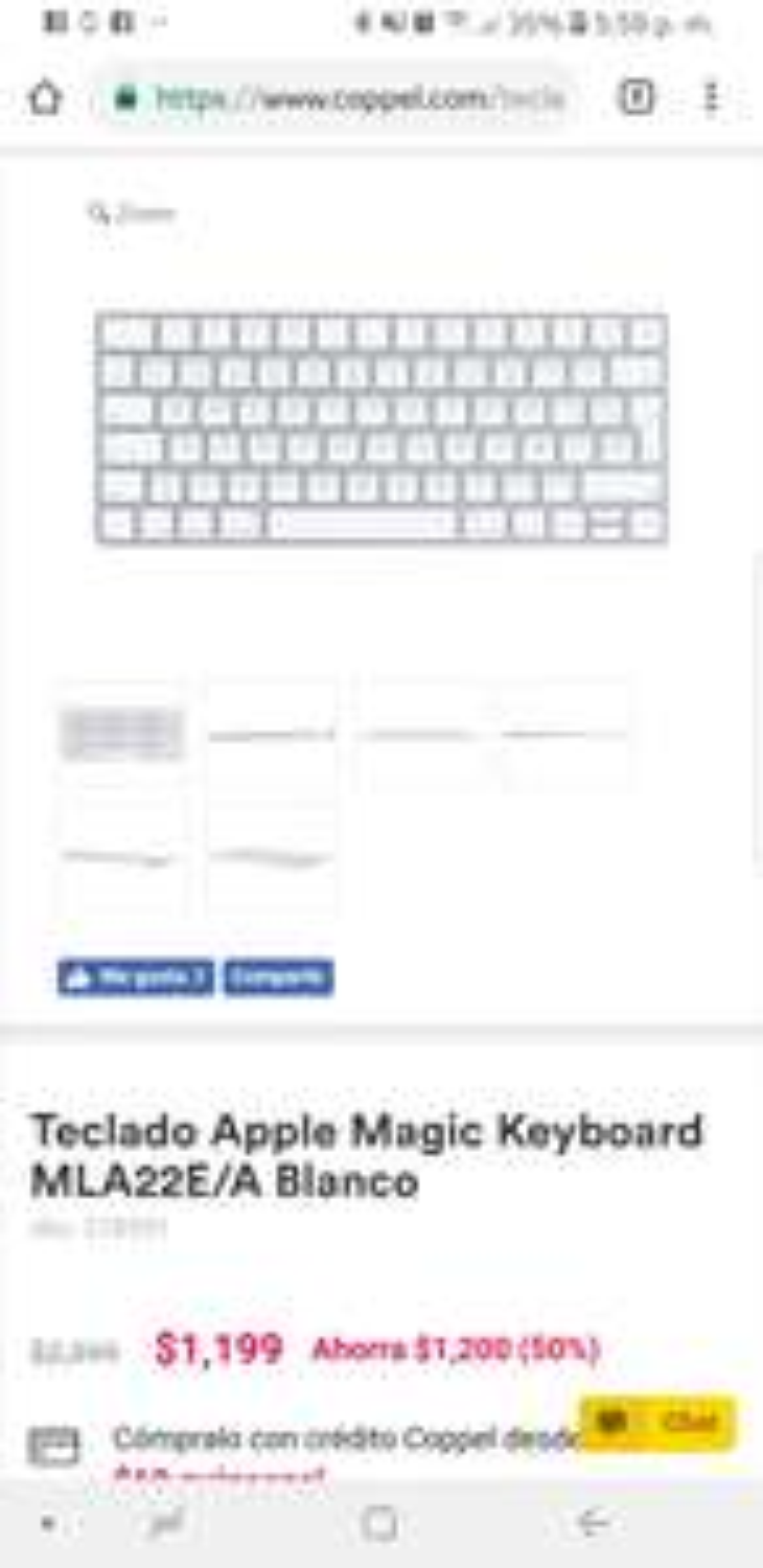 Coppel: Apple Magic keyboard