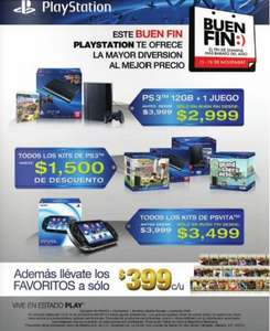 Ofertas del Buen Fin 2013 para PlayStation 3 y PlayStation Vita