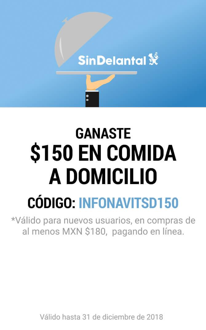 SinDelantal: Cupón $150 (Nuevos Usuarios)