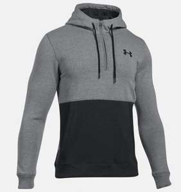 Under Armour: Hoodie UA Threadborne™ Fleece ½ Zip para Hombre