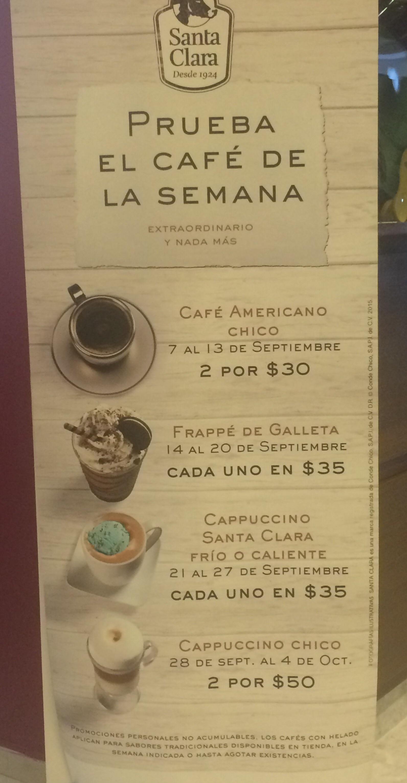 Santa Clara: cafés y helados con descuentos cada semana durante septiembre y octubre