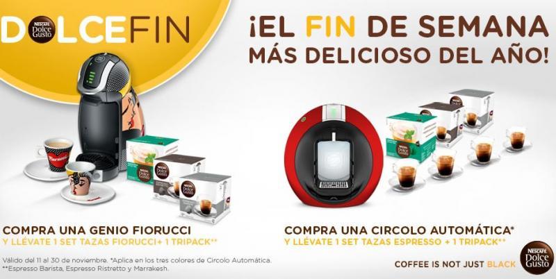 Ofertas del Buen Fin 2013 en Nespresso y Dolce Gusto