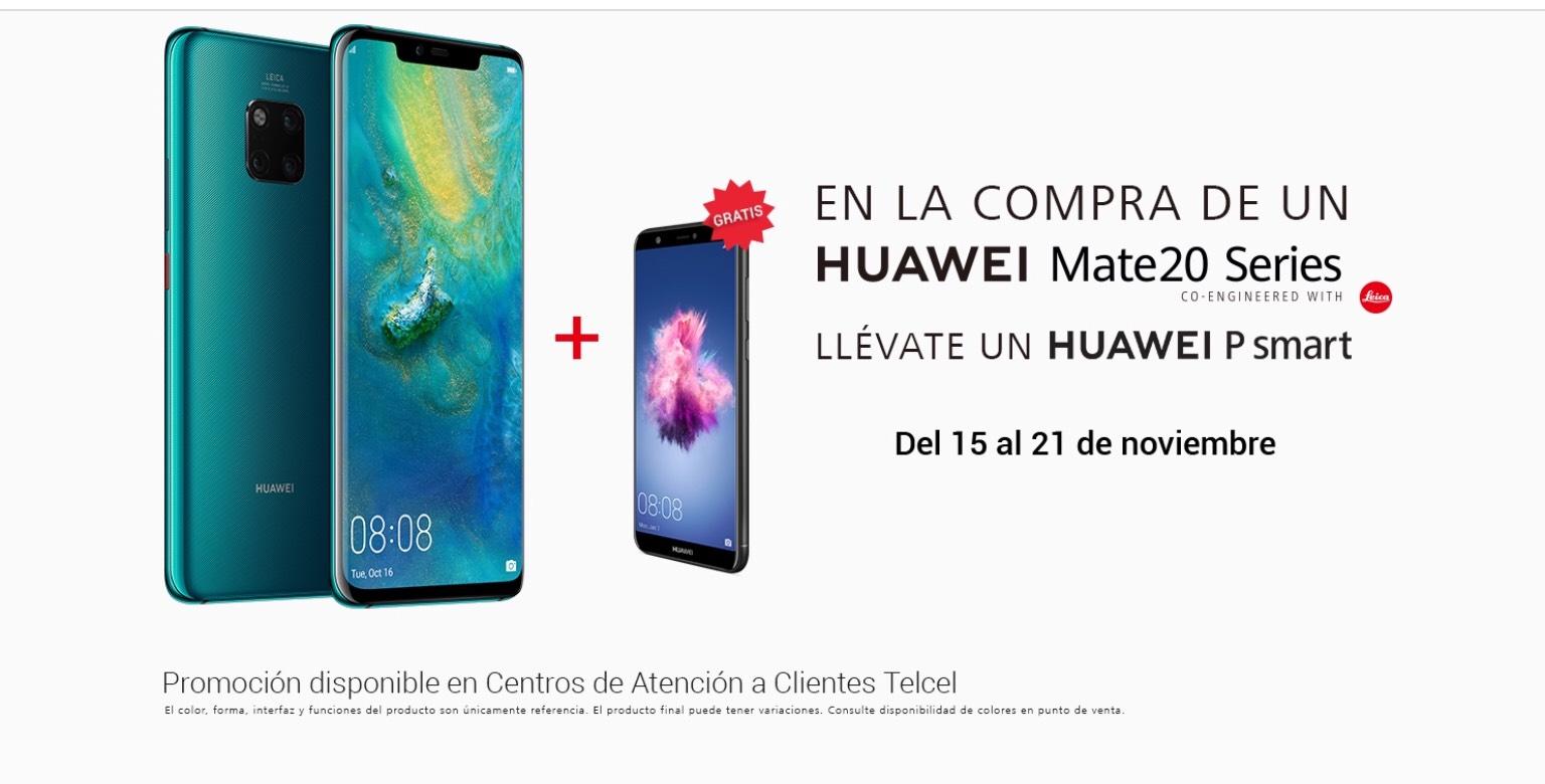 Telcel: Compra un Huawei Mate 20 series y lleva un Huawei P smart gratis